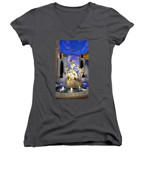 The Forum Shop Statues At Ceasars Palace Women's V-Neck (Athletic Fit)