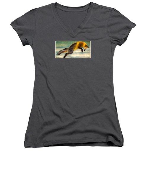 The Fox Hop Women's V-Neck