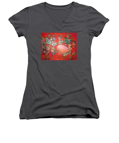 The Fray And The Flobots Women's V-Neck