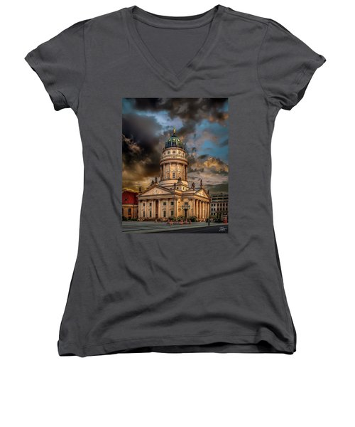 The French Church 3 Women's V-Neck (Athletic Fit)