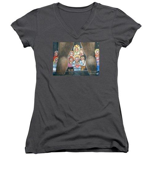 The Full Monty Women's V-Neck T-Shirt