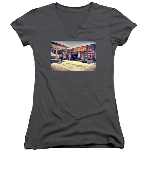 The Garage Women's V-Neck