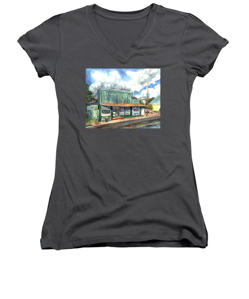 The Garcia Building Women's V-Neck T-Shirt