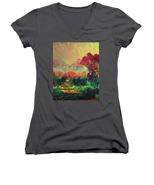 The Garden Women's V-Neck T-Shirt (Junior Cut) by Karen Nicholson