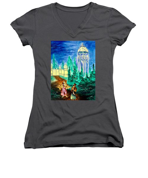 The Garden Of Pictures Women's V-Neck (Athletic Fit)