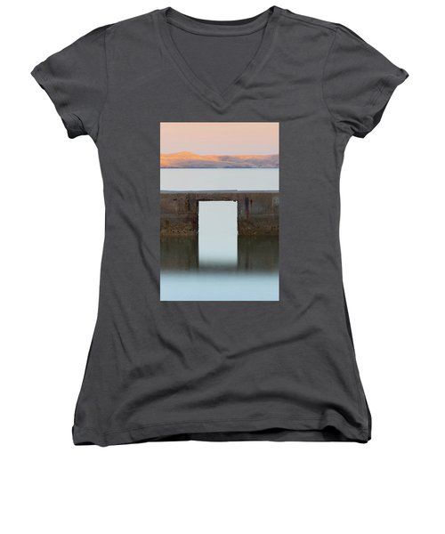 The Gate Of Freedom Women's V-Neck (Athletic Fit)