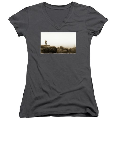 The General's View Women's V-Neck T-Shirt (Junior Cut) by Jan W Faul