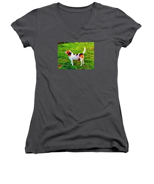 The Gentle Leader Standing Tall Women's V-Neck (Athletic Fit)