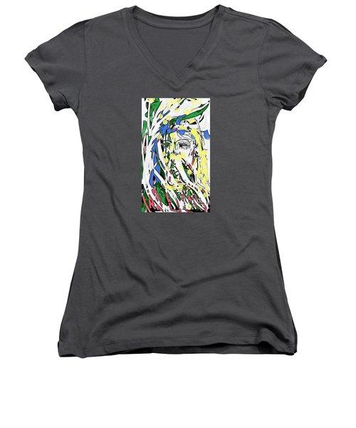 The Girl In Full Bloom Women's V-Neck T-Shirt
