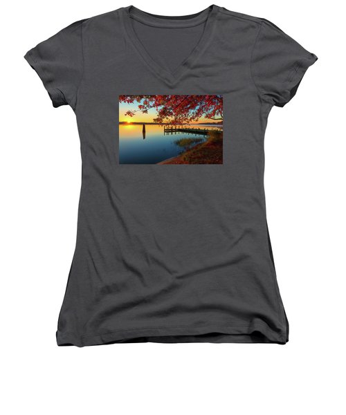 The Glassy Patuxent Women's V-Neck