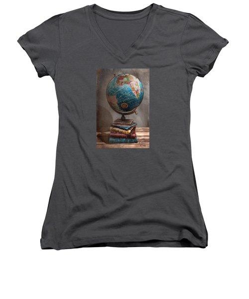 The Globe Women's V-Neck