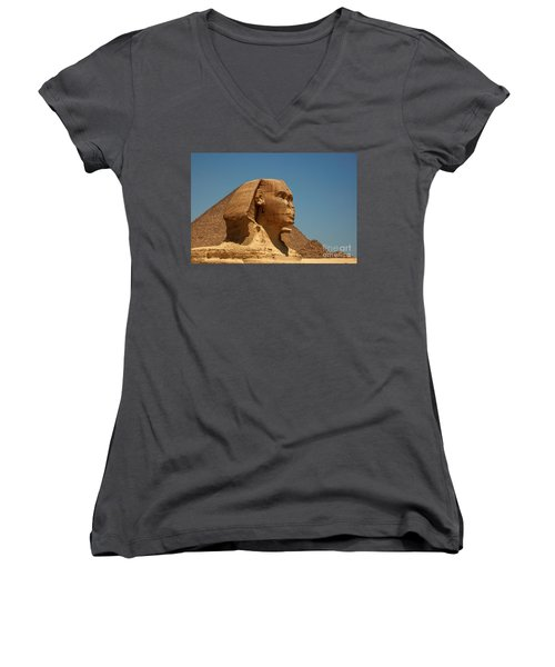 The Great Sphinx Of Giza Women's V-Neck (Athletic Fit)