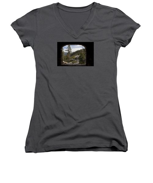 Women's V-Neck T-Shirt (Junior Cut) featuring the photograph The Great View Of Yosemite by Ivete Basso Photography