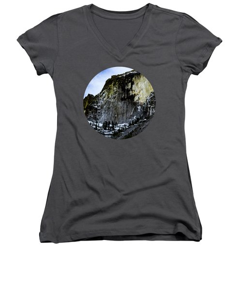 The Great Wall Women's V-Neck T-Shirt (Junior Cut) by Adam Morsa