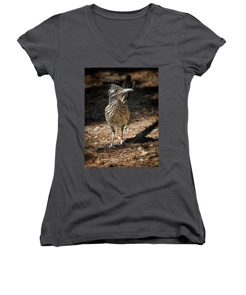 The Greater Roadrunner Walk  Women's V-Neck T-Shirt