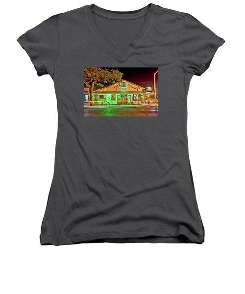 The Greeen Parrot Women's V-Neck T-Shirt