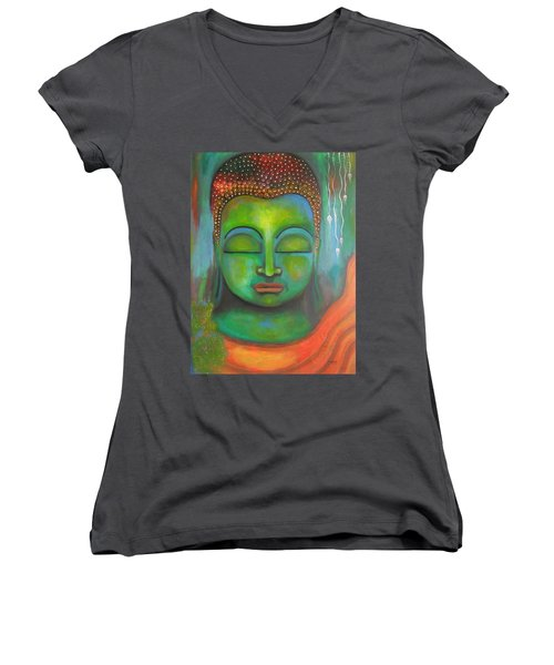 The Green Buddha Women's V-Neck T-Shirt