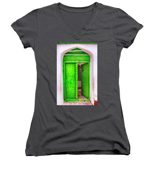 The Green Door Women's V-Neck (Athletic Fit)