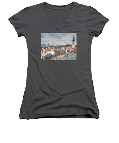 The Guard Of Tallinn Women's V-Neck (Athletic Fit)