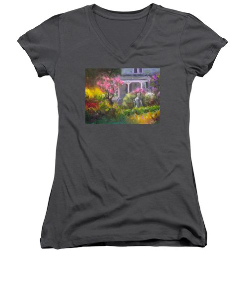 The Guardian - Plein Air Lilac Garden Women's V-Neck