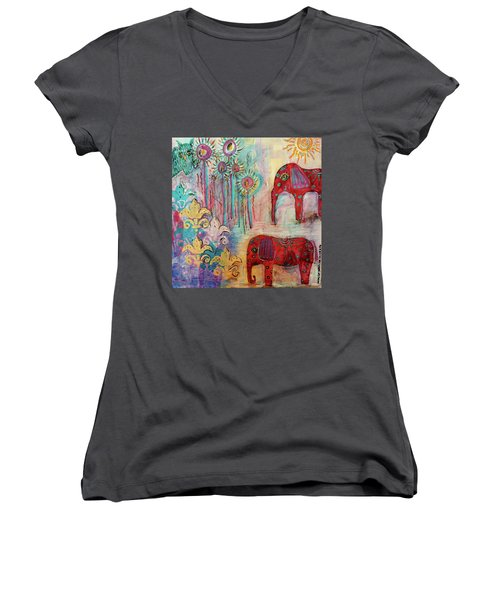 The Guardians Of Night And Day Women's V-Neck