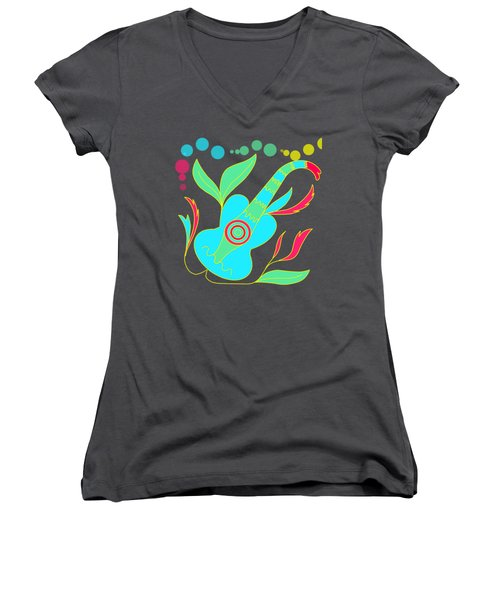 The Guitar Women's V-Neck (Athletic Fit)