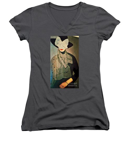 The Hat Women's V-Neck T-Shirt