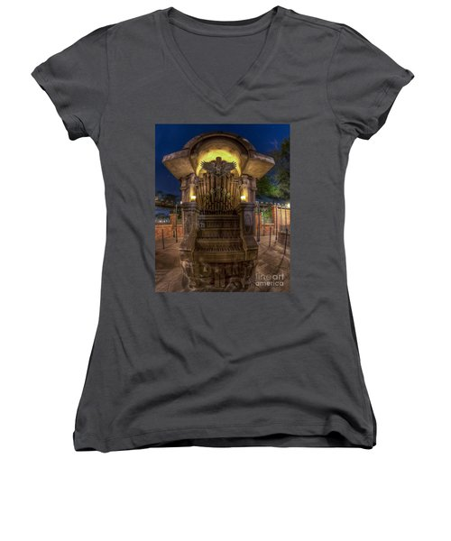 The Haunted Organ Women's V-Neck T-Shirt