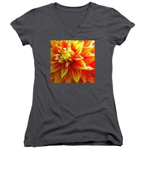 The Heart Of A Dahlia #2 Women's V-Neck