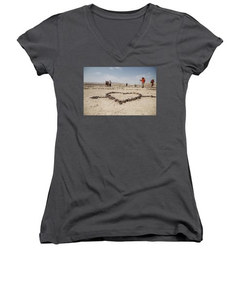 The Heart Of The Desert Women's V-Neck T-Shirt