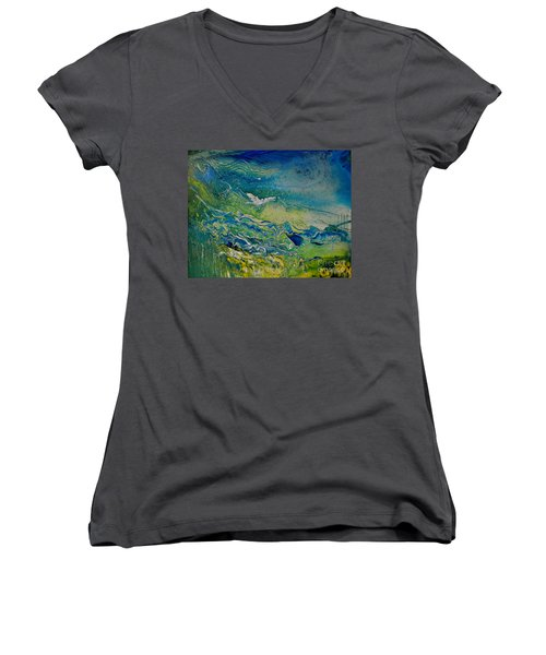 The Heavens And The Eart Women's V-Neck