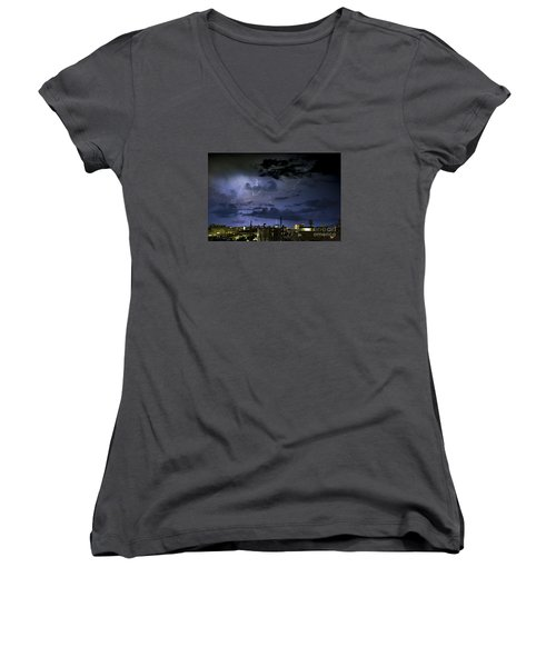 The Heavens Attack Women's V-Neck (Athletic Fit)