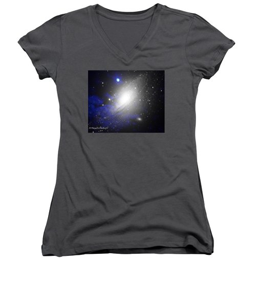 The Heavens Women's V-Neck T-Shirt (Junior Cut) by MaryLee Parker