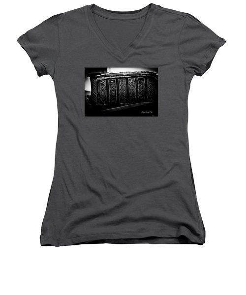 The Holy Bible Women's V-Neck T-Shirt (Junior Cut) by Joann Copeland-Paul