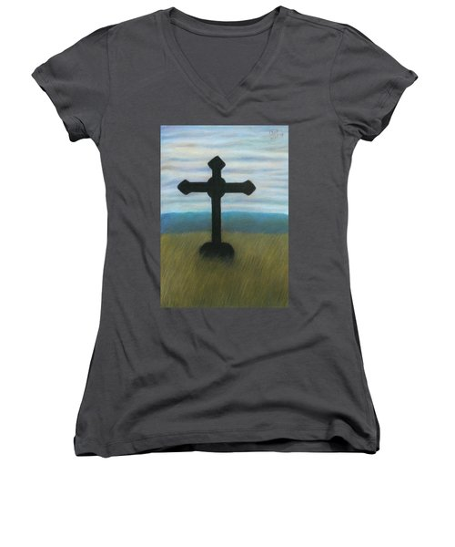 The Holy Cross Women's V-Neck (Athletic Fit)