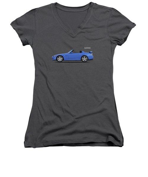 The Honda S2000 Women's V-Neck T-Shirt (Junior Cut) by Mark Rogan