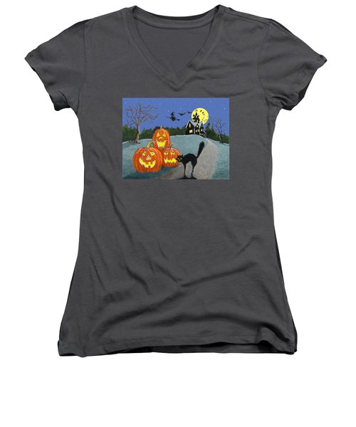 The House On Cemetery Hill Women's V-Neck (Athletic Fit)