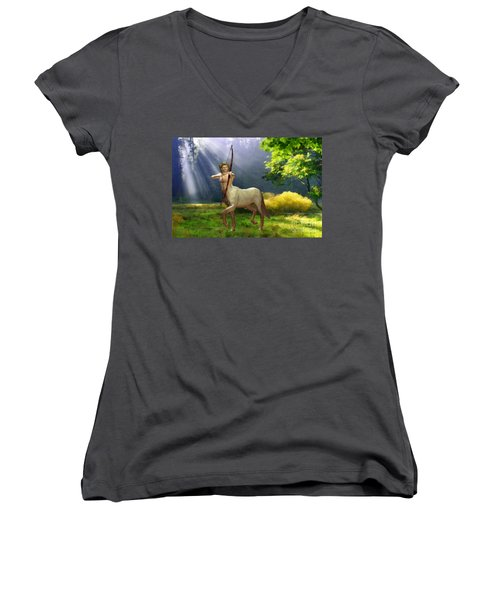 The Hunter Women's V-Neck T-Shirt (Junior Cut) by John Edwards