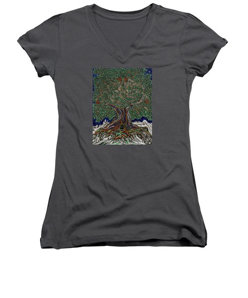 The Hunter's Lair Women's V-Neck T-Shirt (Junior Cut) by FT McKinstry