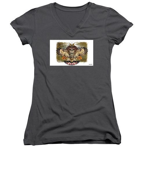The Illusion Was Exposed Women's V-Neck T-Shirt (Junior Cut) by Paulo Zerbato