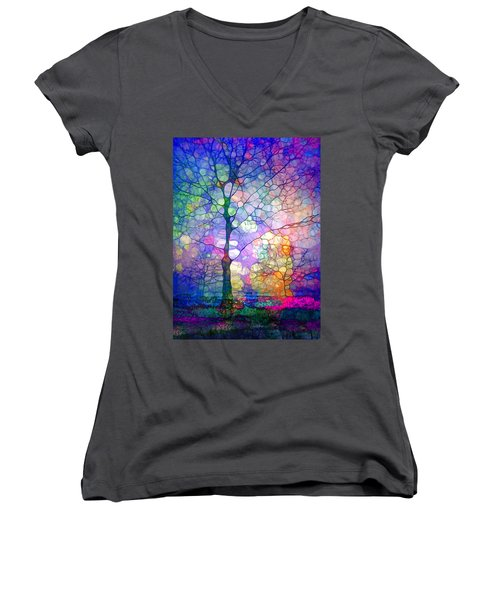 The Imagination Of Trees Women's V-Neck T-Shirt (Junior Cut)