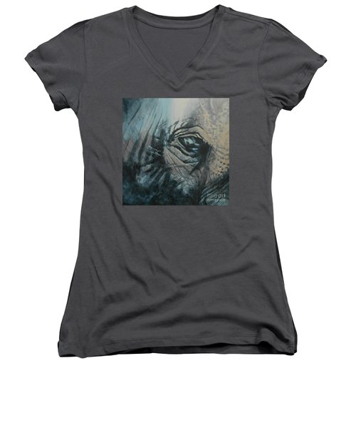 The Incredible - Elephant Women's V-Neck (Athletic Fit)