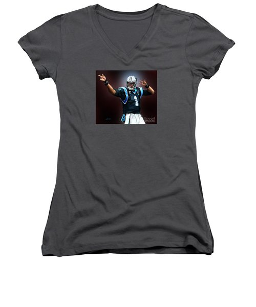 The Inevitable Cam Newton1 Women's V-Neck (Athletic Fit)