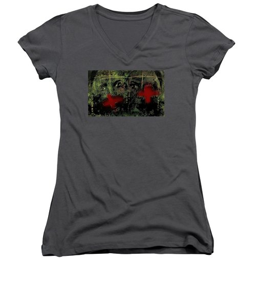 The Innocent Women's V-Neck T-Shirt (Junior Cut) by Jim Vance