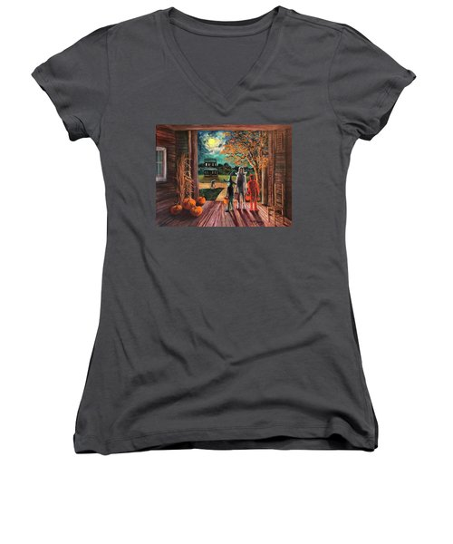 The Intruder Women's V-Neck T-Shirt (Junior Cut)