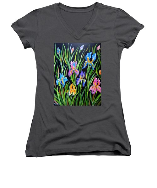 The Irises Women's V-Neck (Athletic Fit)
