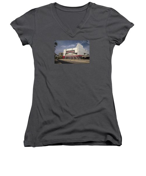 The Joe Wide Shot  Women's V-Neck T-Shirt (Junior Cut)