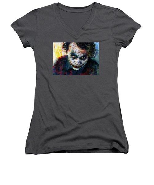 The Joker Women's V-Neck T-Shirt