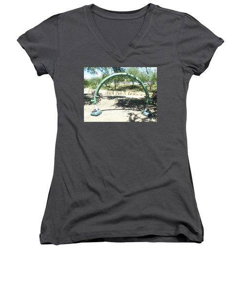 The Kid In You Women's V-Neck (Athletic Fit)