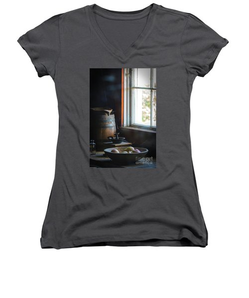 The Kitchen Window Women's V-Neck T-Shirt (Junior Cut) by Mitch Shindelbower